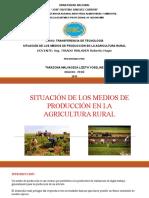 Situacion de Los Medios de Produccion en La Agricultura