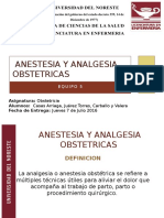 Anestesia y Analgesia Obstetricas Unico