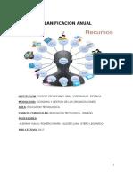 Planificación Anual - Educación Tecnológica - Secundaria.