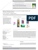Removal of Pharmaceuticals From Wastewater by Fungal Treatment