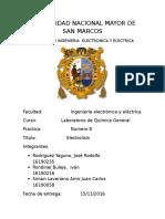 Informe n 8 Labo de Quimica Electrolisis