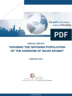 Housing the Growing Population of Saudi Arabia