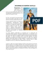 Biografía Resumida de Ramón Castilla