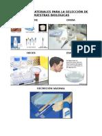 Equipos y Materiales Para La Selección de Muestras Biológicas
