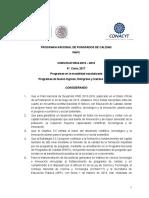 Convocatoria Pnpc Nuevo Ingreso 2016-4to Corte