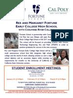 ECHS Enrollment Meeting Flyer