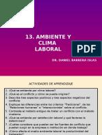 13. Ambiente y Clima Laboral