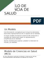 Modelo de Creencias en Salud