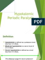 Paralitik hipokalemia