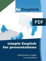 Simple English for Presentation