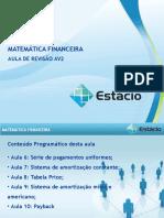Revisão Matemática Financeira