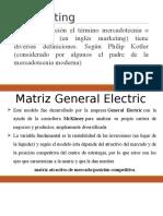Matriz de Ge y Michael Porter