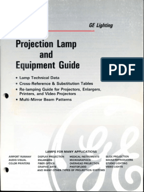 GE Photographic Lamp Guide 1990   Incandescent Light Bulb
