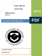 Bsbldr502 Work Book