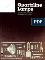 GE Quartzline Lamps Brochure 1984