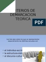 Criterios de Demarcacion Teorica