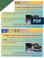 Afiche Concurso Inglés