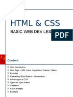 HTML and CSS