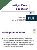La Investigación en Educación y Problemática de La Investigación Dra. Carmen Díaz