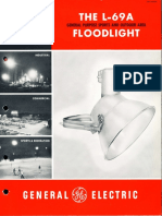 GE Lighting Systems L-69A Floodlight Brochure 1958