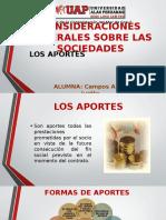 LOS APORTES