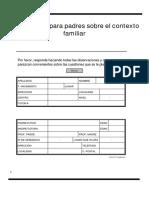 Cuestionario Contexto Familiar