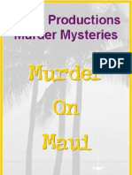 00074  Adult Murder Mystery Game Party Game - Murder On Maui