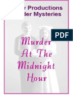00073  Adult Murder Mystery Party Game - Murder at the Midnight Hour