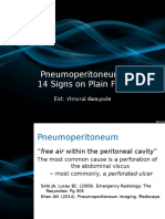 Signs of Pneumoperitoneum on Plain Film