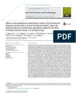 Efficacy and Phosphorus Equivalency Values of Two Bacterialphytases (Escherichia Coli and Citrobacter Braakii) Allow Thepartial Reduction of Dicalcium Phosphate Added to the Dietsof Broiler Chickens From 1 to 21 Day