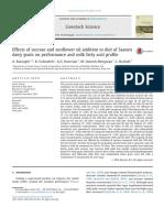 Effects OfsucroseandsunfloweroiladditiontodietofSaanen