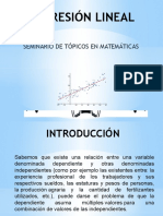 Presentacion Regresión Lineal