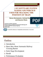 BUILDING OF SOFTWARE SYSTEM AND UTILIZING GPS WHICH IS USED FOR TRACKING THE POSITION OF TRAIN