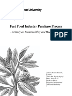 purchasing process of food industry