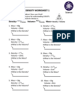 Density Worksheet 1 PDF
