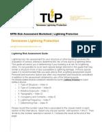 NFPA Risk Assessment Worksheet - TLP-Tennessee Lightning Protection
