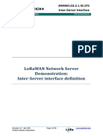 LoRa Inter-server Interface Definition