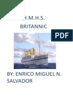 H.M.H.S BRITANNIC