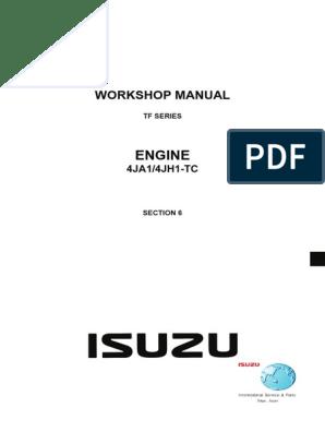 [SCHEMATICS_48IS]  Isuzu Dmax Engine Service Manual | Internal Combustion Engine | Motor Oil | 2013 Isuzu Dmax Service Manual |  | Scribd