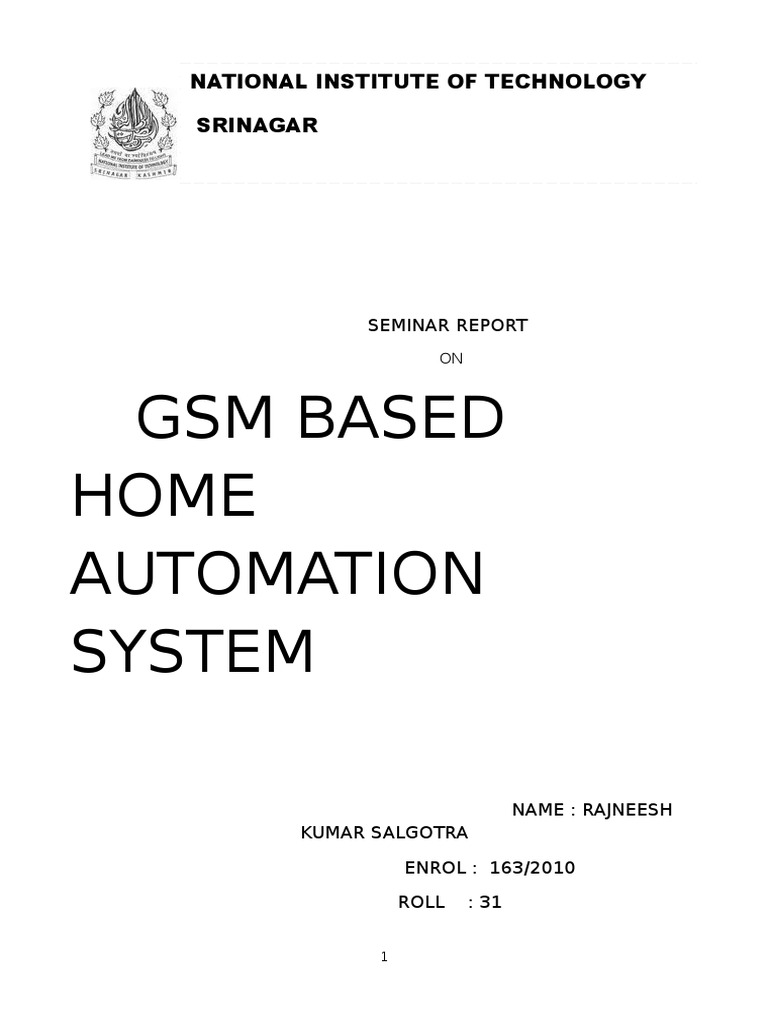 Seminar Report On Gsm Based Home Automatdocx Microcontroller Circuit Using Dtmf Decoder Mt8870 Or Cm8870 As Shown In The U Computer Engineering