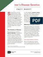 Alzheimers Disease Genetics Fact Sheet Usor