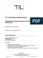 ITIL Intermediate Capability OSASample1 QUESTION BOOKLET v6.1