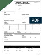 Inspection & Test Record Control Valve Pre-Installation
