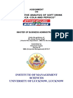 Competative Analysis of Soft Drink as Cocacola and Pepsico''