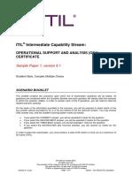ITIL Intermediate Capability OSASample1 SCENARIO BOOKLET v6.1