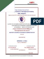 Mahindra Mahindra Project Report