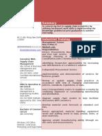 Resume Format for Freshers 2 1