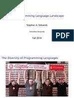 The Programming Language Landscape