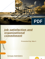 Job Satisfaction and Organizational Commitment