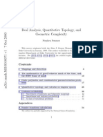 Semmes - Real Analysis, Quantitative Topology, And Geometric Complexity